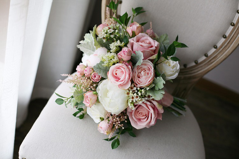 3.10  Classic Smoked Pink Bridal Bouquets 2018 New Elegant Synthetic Holding Flower Bridal  Nation Seashore Wedding ceremony Provides HTB1jN