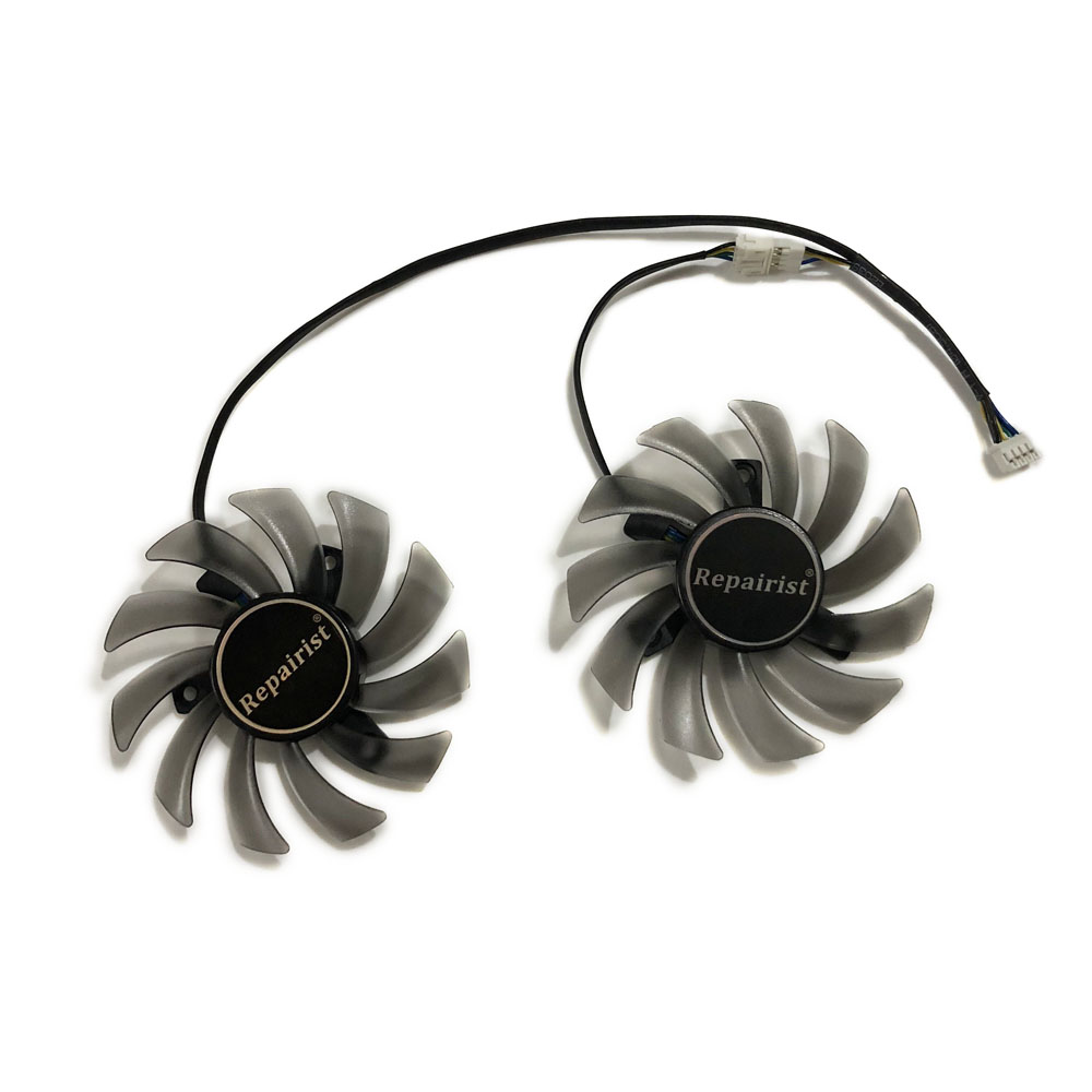 2pcs/set FD7010H12S RX 460 <font><b>GTX1050</b></font> GPU VGA Cooler Graphics Card Fan For ASUS DUAL RX460 DUAL gtx <font><b>1050</b></font> R7 360 Video Card Cooling image