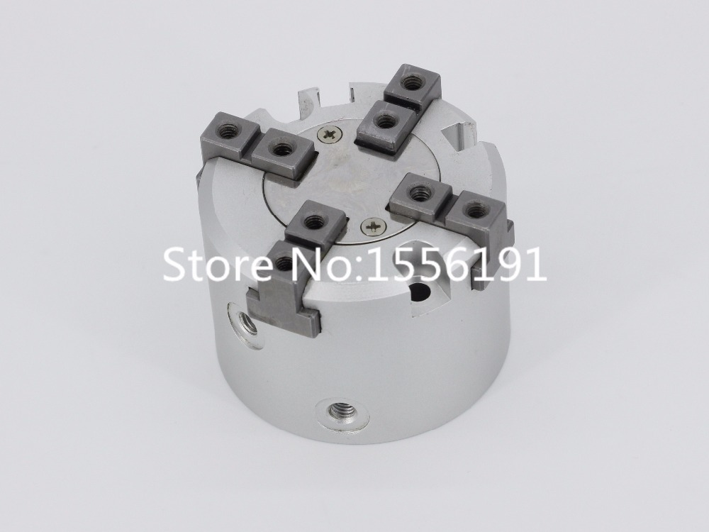 MHS4-100D SMC Type Cylinder 4 Finger Parallel Style Air Gripper high quality double acting pneumatic gripper mhy2 25d smc type 180 degree angular style air cylinder aluminium clamps
