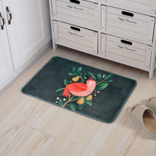 Cartoon Cute Chicken Goose Print Carpets Anti-Slip Kitchen Dining Bedroom Floor Mat Home New Year Decor Gifts Welcome Tapete Rug