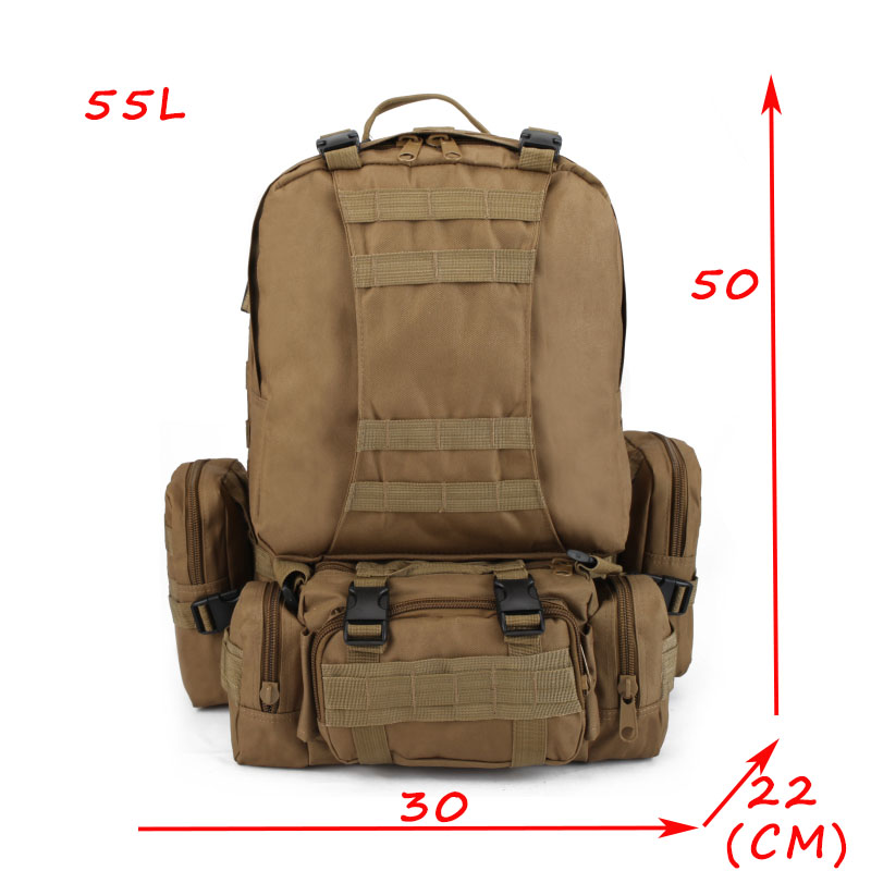 50L Men Camouflage Backpack Military Survival Rucksack Men's Travel Mountaineering Bag Large Capacity Luggage Bags mochila 60l fashion large waterproof men travel bags backpack travel mountaineering backpack bag nylon luggage bags