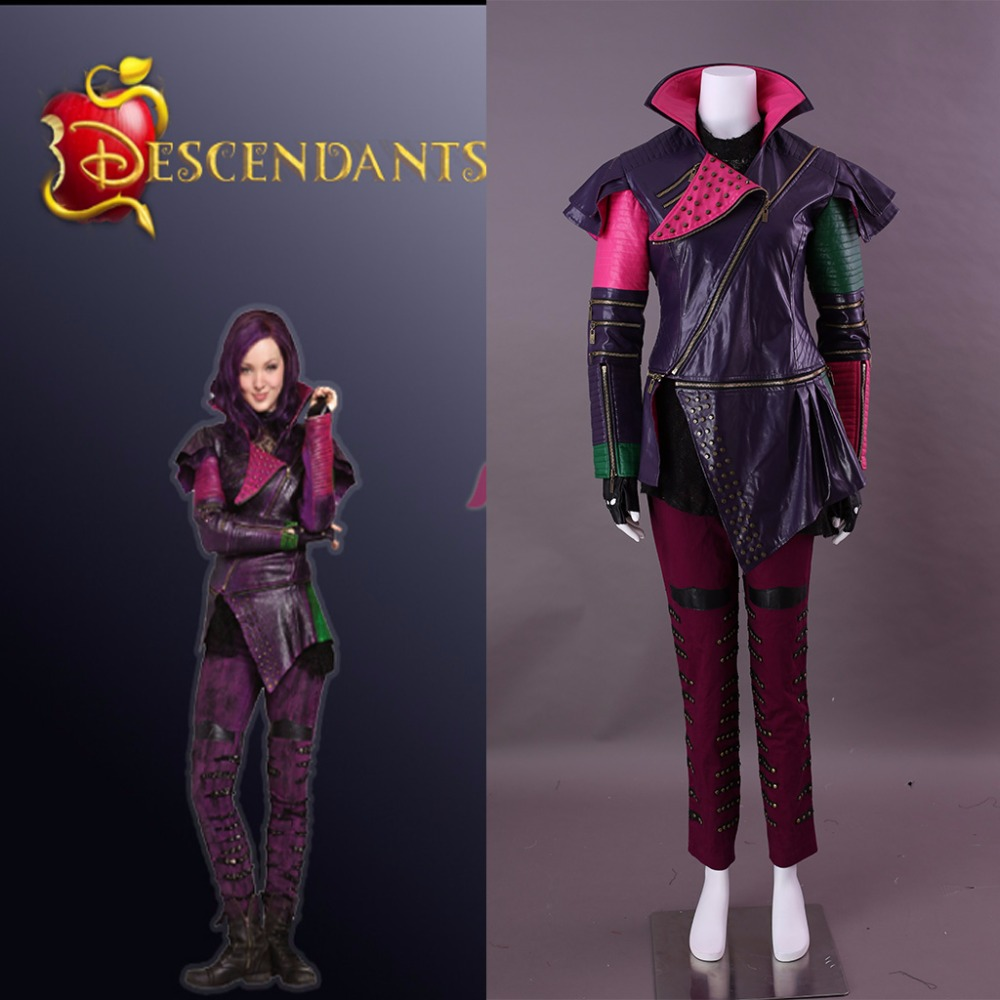 US $147 73 11% OFF|Cosplaydiy Movie Descendants Maleficent Daughter Mal  Cosplay Costume Adult Leather Jacket and Pants Costume L0516-in Movie & TV