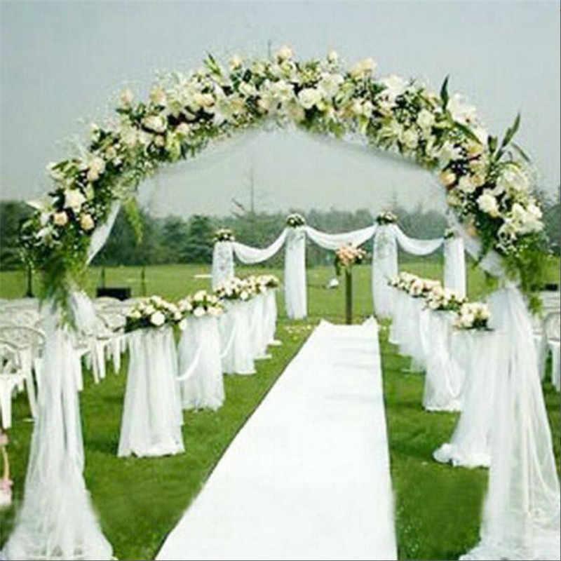 Venda 75 cm de Largura * 20 m de Comprimento Cristal Organza Rolo de Tecido Tule Cortinas Para O Casamento da Festa de Aniversário Decoração Suprimentos