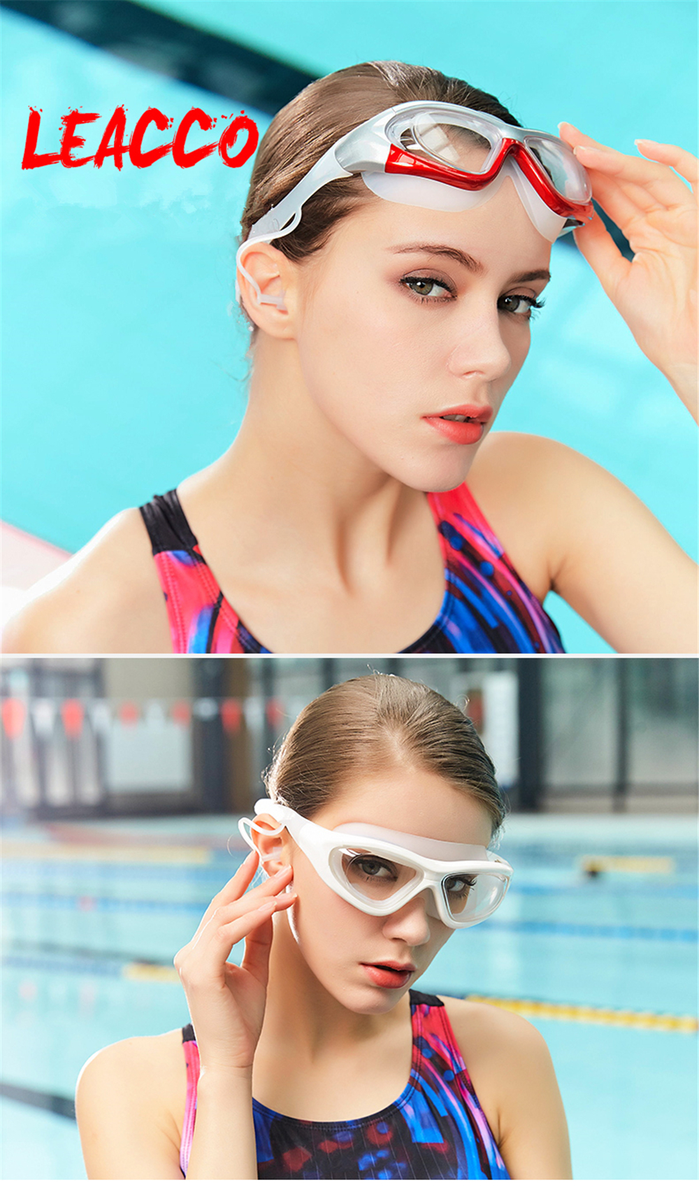 Transparent Men Women Myopia Diopter Prescription Swimming Goggles With Large Frame 1