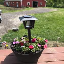 Солнечный Отпугиватель комаров светодиодный вредители отклонить Управление ламп убийца репелленты отпугиватель дома и сада вредителей