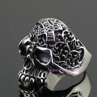 S925 серебро jewelry кольца инкрустированные камень starlight череп импортные тайский серебряное кольцо