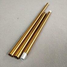 4 шт./лот m10 Женская резьба античный Золотистый металлический полый трубчатый для осветительных аксессуаров оба конца имеют 10 мм внутреннюю резьбу