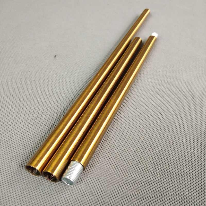 4pieces/lot  m10 female thread  antique gold metal hollow tube for Lighting accessories  Both ends have 10mm inner thread