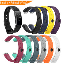 Mijobs Sports Silicone Strap for Fitbit Inspire/Inspire HR Band Smart Watch Bracelet Replacement Inspire