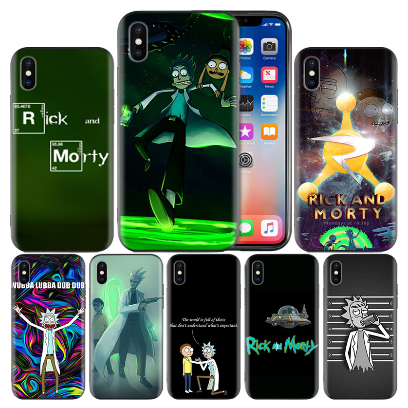 Rick and Morty Series Frosted Fundas Hull Case For Apple iPhone 7 8 6 6S Plus X XS MAX XR 5 5S 5C SE 10 Ten Protect Cover Coque
