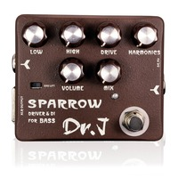 Dr J Sparrow Driver DI Effect Pedal For Bass Electric Bass Overdrive Pedal