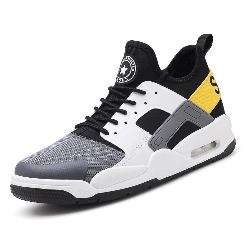 2018 летние Для мужчин кроссовки спортивные удобные ботинки черные кроссовки с высоким б ...