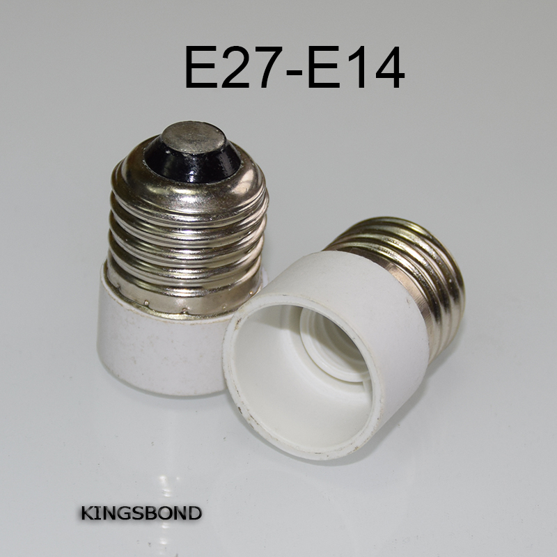10PCS Free Shipping LED E27 to E14 Lamp Light Bulb Adapter, Convert E27 Bulb Socket to E14 Bulb Socket