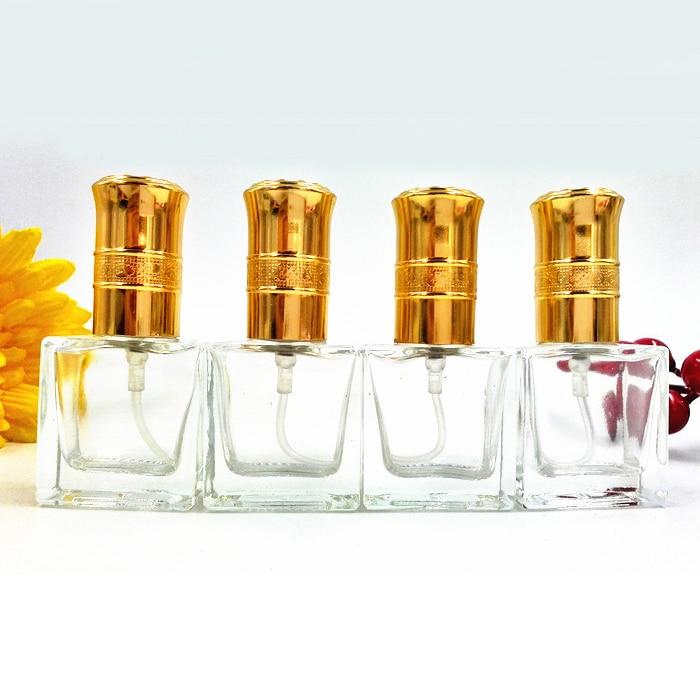 10ml zlati pokrovi steklen stekleničk za parfume Atomizer polnitev - Orodja za nego kože