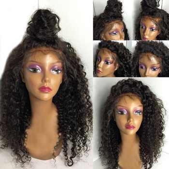 SimBeauty レースフロント人毛ウィッグ黒人女性 130% 密度ペルー弾むカーリー人間の毛髪グルーレスレースフロントかつら