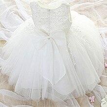 Белое детское праздничное платье принцессы на день рождения для девочек; Детские Рождественские Бальные платья подружки невесты с цветочным рисунком; одежда для маленьких девочек