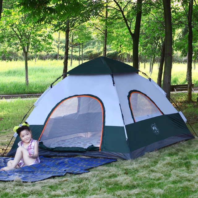 Pop Up Tents For Sale >> Hot Sale Pop Up Double Layer 4 Person Waterproof Family Camping Tent