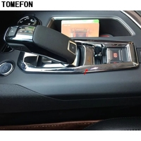 TOMEFON ABS Matte Gear Shift Knob Panel Frame Trim Cover Car Accessories Styling 1piece For Peugeot