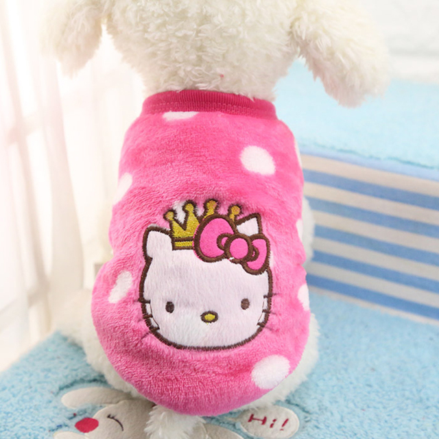 Autumn/Winter Cartoon Pet Puppy Cat Coats Jacket Warm Fleece Dog Costumes Clothes for Small Dogs Chihuahua Yorkshire Clothing 1