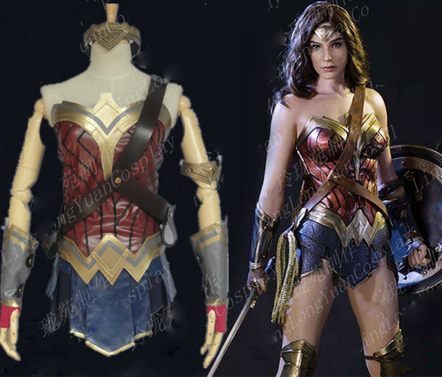 NEW Movie Batman V SupermanDawn Of Justice Wonder Woman Cosplay Costume For Adult Women