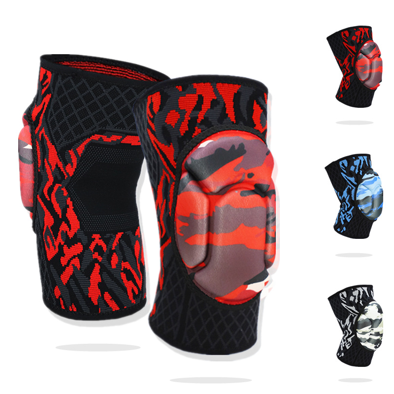 1 Pair Protective Knee Pads Knee Brace Support Thick Sponge Anti-Slip Collision Avoidance Knee Sleeve for Volleyball Break Dance