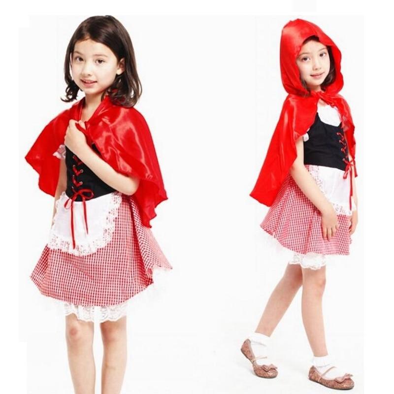 Qız kostyumu Şirin Balaca Miss Qırmızı Qız Cosplay Halloween - Karnaval kostyumlar - Fotoqrafiya 2