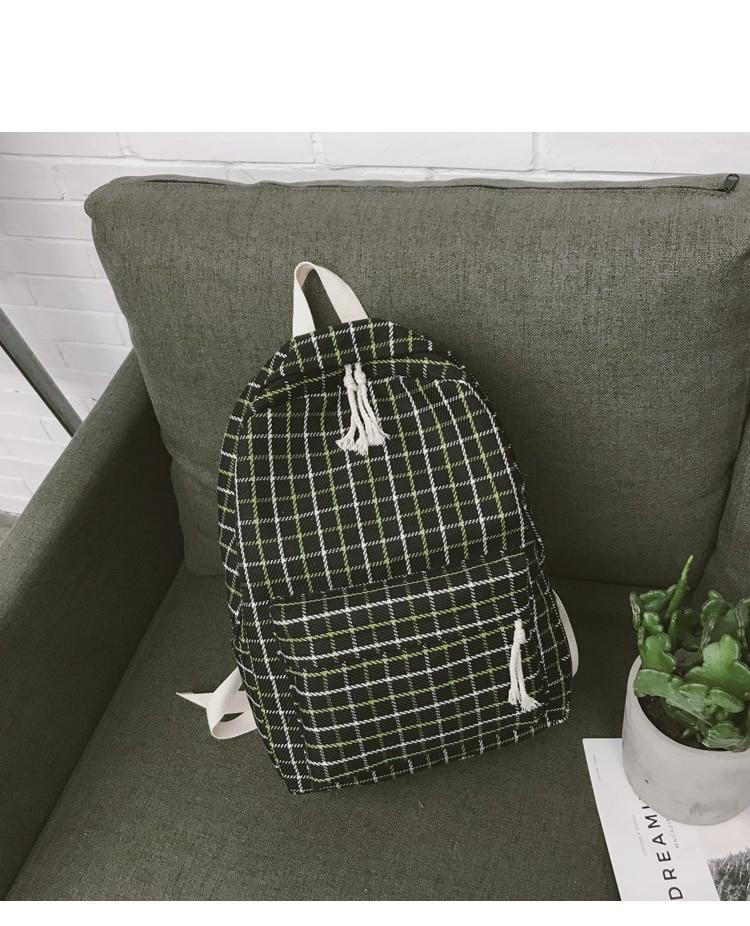 HTB1jN3Qa8GE3KVjSZFhq6AkaFXaP 2 Pieces Japan style Plaid Style Women Backpack Pencil Case Student Girl School Bag Travel Shoulder Bag For Women 2019 Bagpack