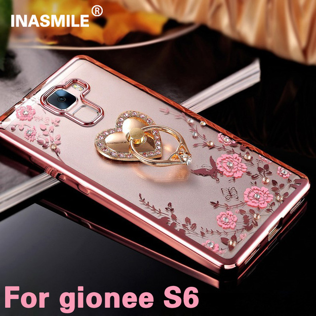 super popular 38c17 c7358 US $2.27 |Luxury Secret Garden with ring phone case For gionee S6 Soft TPU  Flowers Painted Transparent Clear Back Cover for gionee s6 on ...