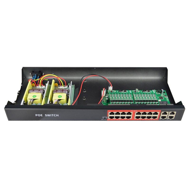 48 V 16 Ports POE commutateur ethernet avec IEEE 802.3 af/at ports RJ45 commutateur réseau professionnel 10/100 Mbps pour caméras POE 12 V - 2