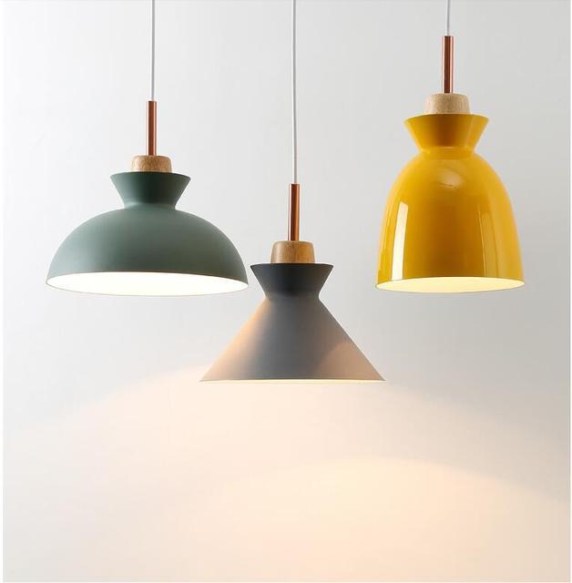 Modern wood pendant lights lamparas aluminum lamp shade luminaire modern wood pendant lights lamparas aluminum lamp shade luminaire pendant lamp for dining room aloadofball Gallery