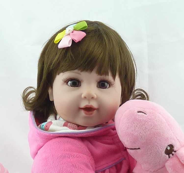 "NPK 20 ""בובת תינוק עם ג 'ירפה בובת רך גוף סיליקון ויניל מקסים כמו בחיים פעוט תינוק Bonecas ילדה ילד Bebes reborn בובות"
