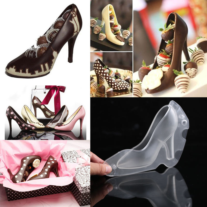 High Heel Shoes Chocolate Molds Candy Mould 3D Molding Fondant Cake Mold Ladys Shoes Cake Decoration Moulds Tools For Baking