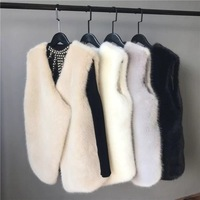 2019 Winter Korean Version Fashion Loose Women Top New Style White Pure Color M Female Simple Temperament Mink Down Vest Coat