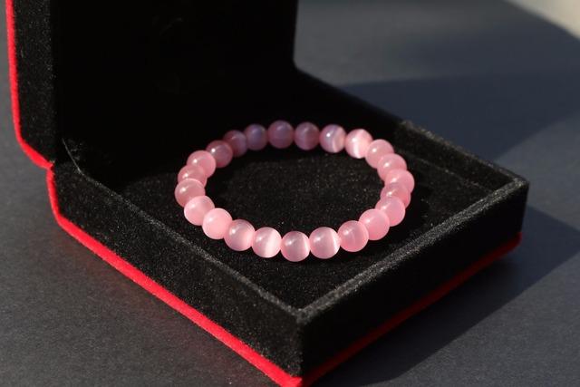 Sweet Pink Opal Beads Bracelet