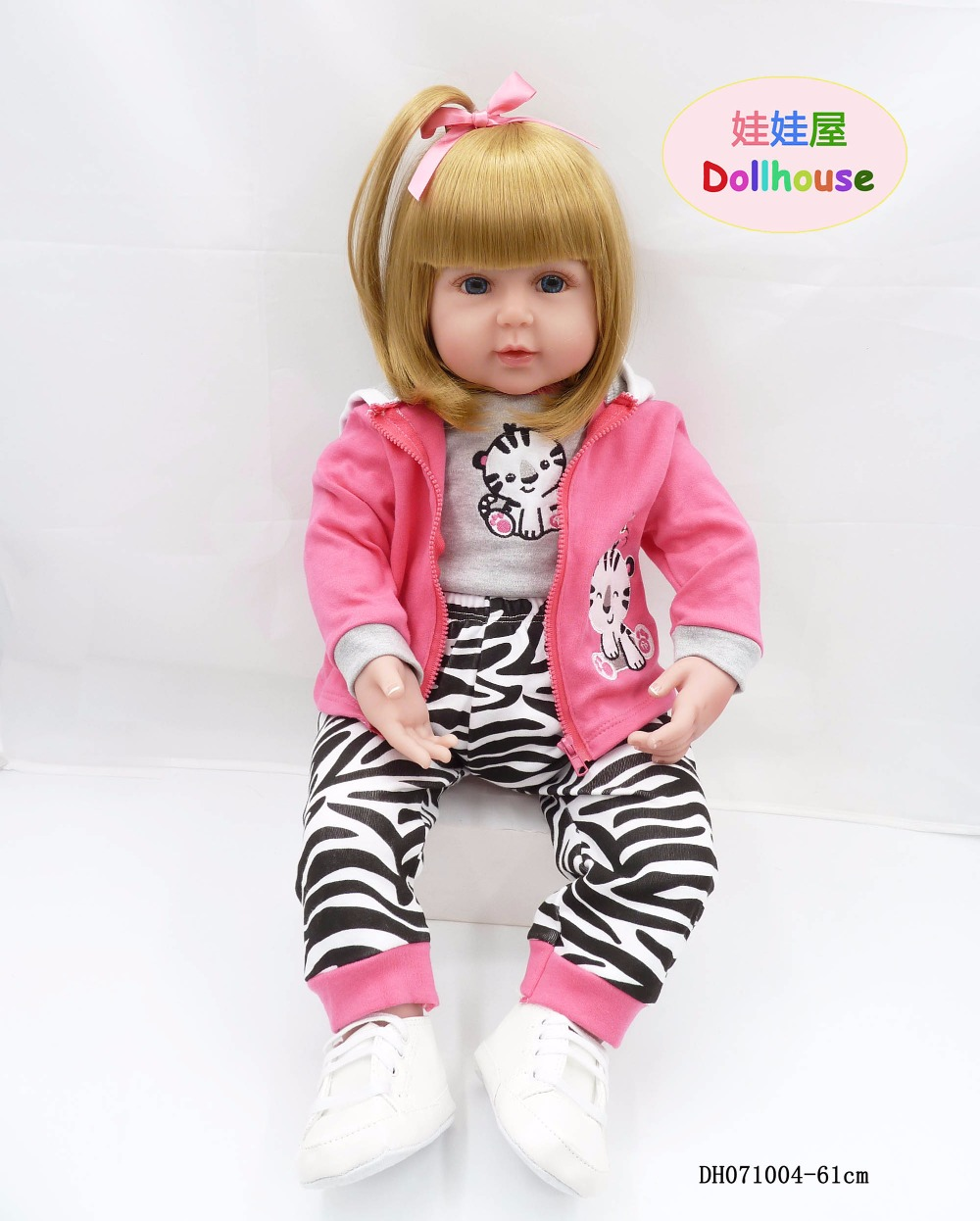 24 Inch Lifelike Princess Girl Reborn Doll 61 cm Realistic Silicone Real born Babies Toy With Clothes Kids Birthday Xmas Gift
