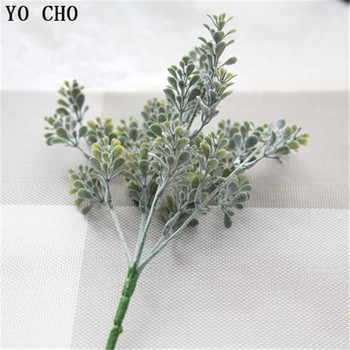 YO CHO High Quality Artificial Plants Flocking Milan Grass Eucalyptus DIY Home Office Garden Verandah Simulation Plants Greenery