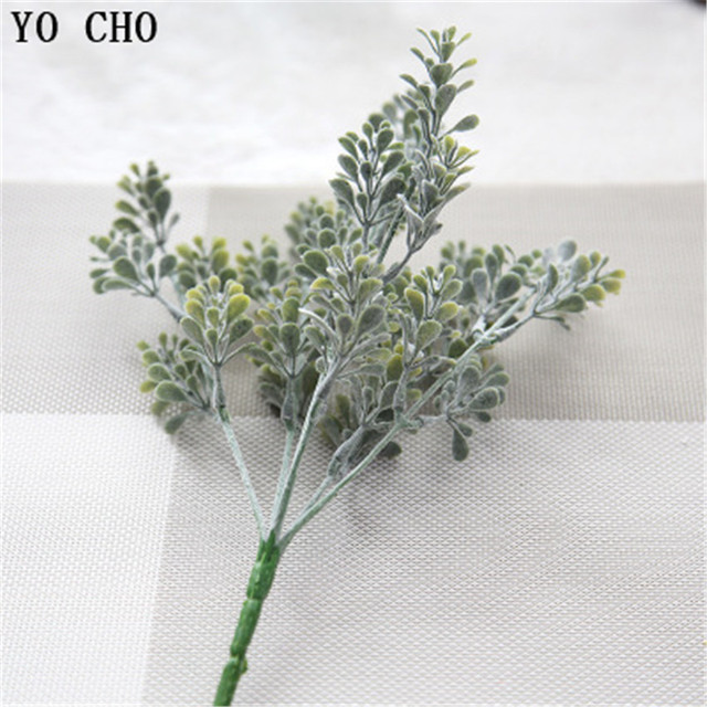 YO CHO haute qualité plantes artificielles flocage Milan herbe Eucalyptus bricolage maison bureau jardin véranda Simulation plantes verdure