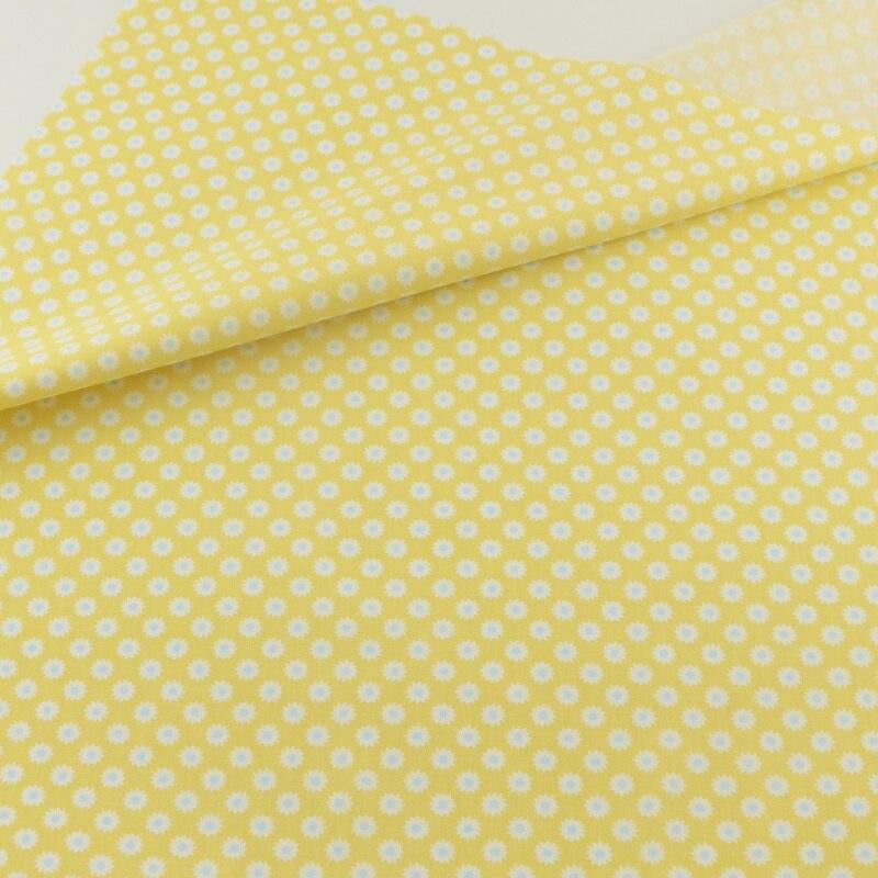 Amarillo floral tela de algodón tejido textil para el hogar ropa de cama patchwo