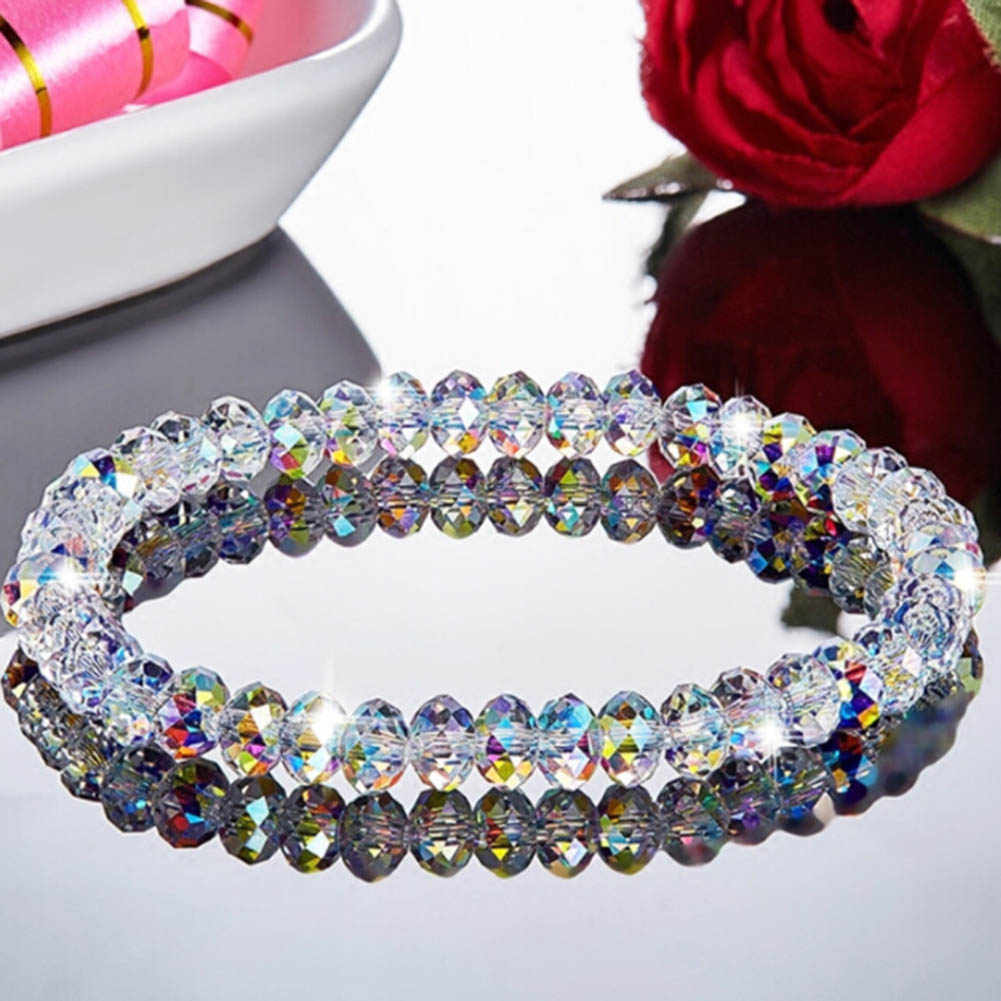 2019 1PC Crystal Beaded Bracelets for Woman Sweet Temperament Handwork Bracelets & Bangles Charms Jewelry