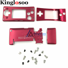 5 Colors Metal Housing Shell case for Nintendo Gameboy Micro GBM front back Cover Faceplate Battery Holder w/ Screw