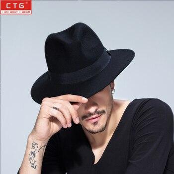 ... arriving 4903c a2ce6 Male wool felt British Panama Jazz hat 100% wool  fedora felt hat ... c5f6e15a37d0