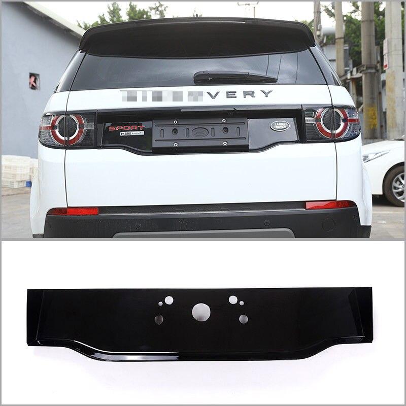 ABS Chrome Brillant Noir Arrière Queue Décoration Cadre Cover Version Pour Land Rover Discovery Sport 2015-2017 Car Styling