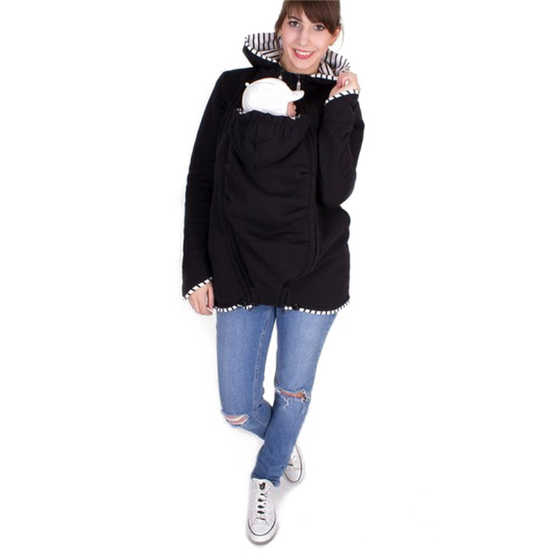 Daddy Chen Carrier Outwear Baby Holder Materity Carrier Sweatshirts Pregnant Multifunction Kangaroo Coat Warm Cotton
