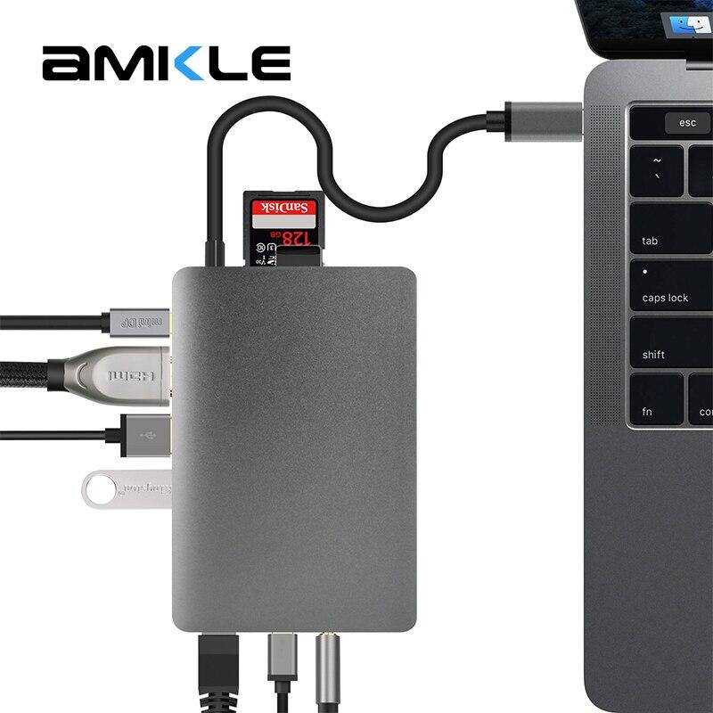 Amkle-in-1 Hub USB Multifunzione USB-C Hub con il Tipo-C 4 K Video HDMI Adattatore Gigabit Ethernet USB 3.1 USB Tipo C C3.1 HUB