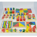 14 Sets Wooden Building Blocks Toys  Educational Toys Preschool Family Set Kids Toys For Children Teaching Aids