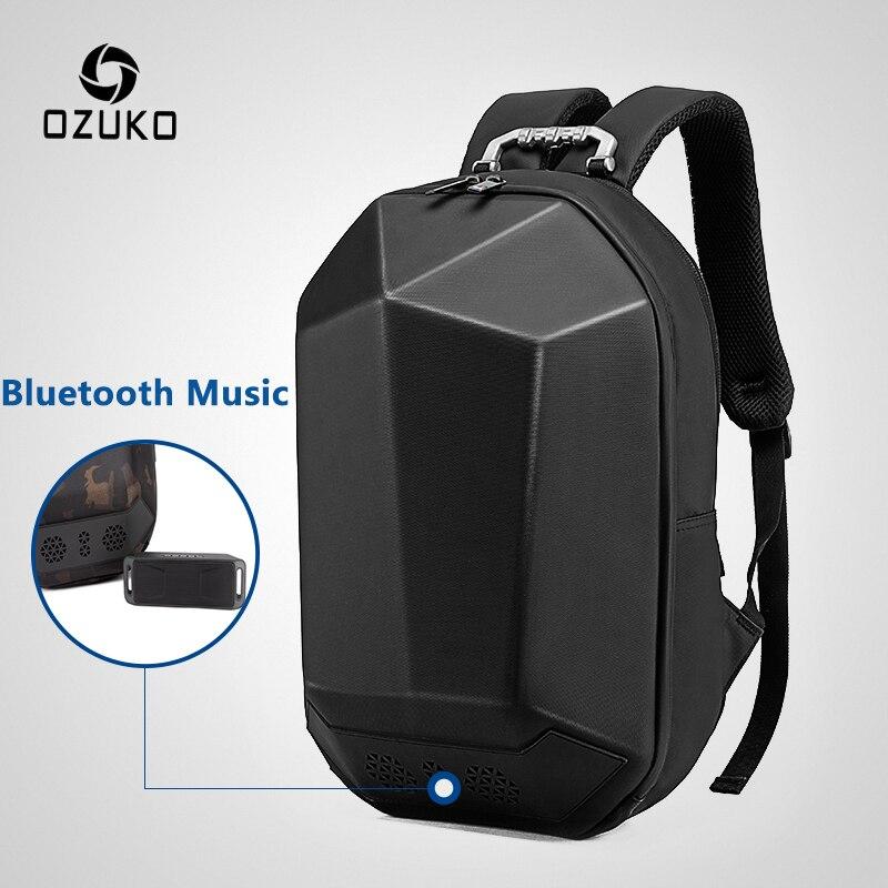 OZUKO Men 15 6 Laptop Backpack Fashion Waterproof Teenager Schoolbag Multifunction Male Travel Mochila USB Bluetooth