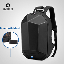 OZUKO для мужчин 15,6 «рюкзак для ноутбука Модные непромокаемые школьная сумка для подростков Универсальный Мужской путешествия Mochila USB Bluetooth рюкзаки