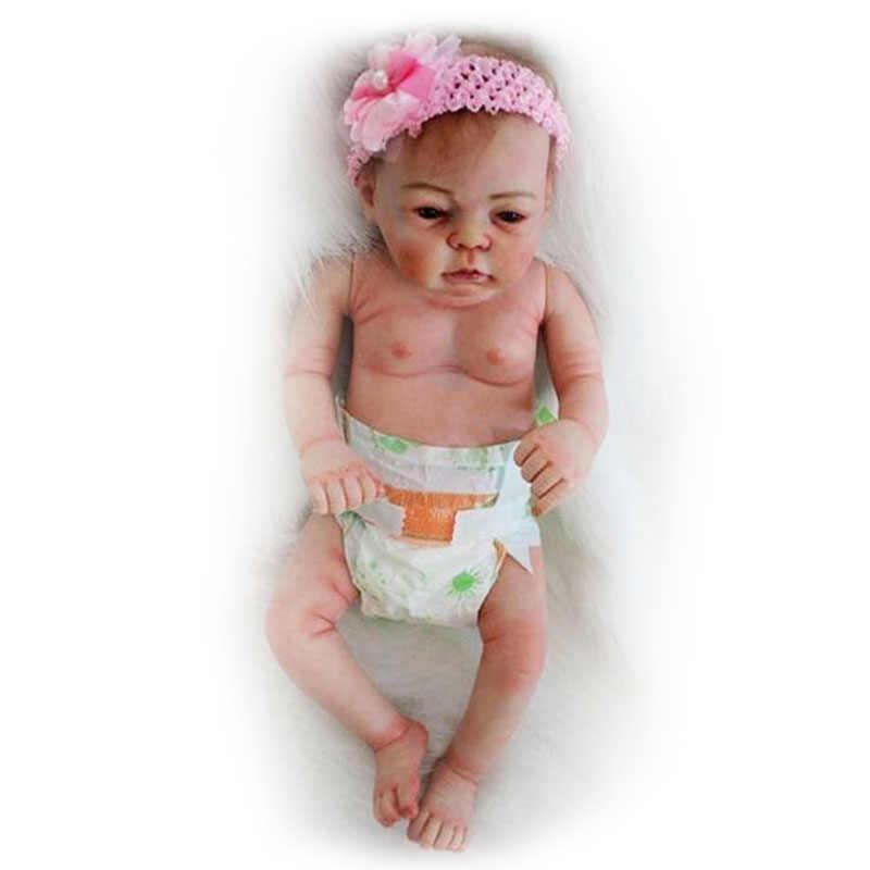 21 ''vivo Bonecas Recém-nascidos Realistas Vinil Silicone Macio Renascer Baby Dolls Lifelike Simulação Menina Bonecas Brinquedos para As Crianças Presentes