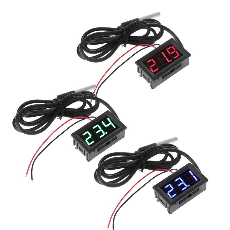 "0,56 ""ds18b20 Digital Thermometer Wasserdichte Temperatur Sensor Sonde Dc 12 V 24 V"