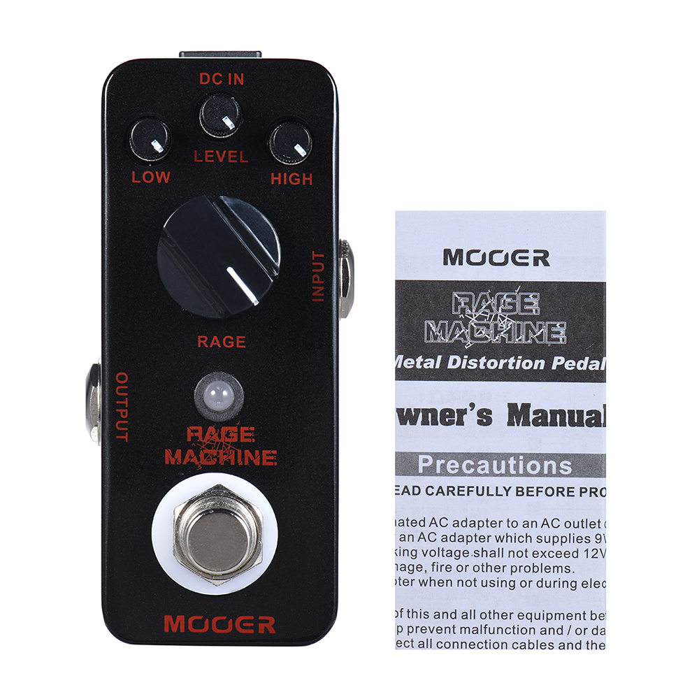 mooer rage machine heavy metal distortion guitar effect pedal true bypass full metal shell in. Black Bedroom Furniture Sets. Home Design Ideas